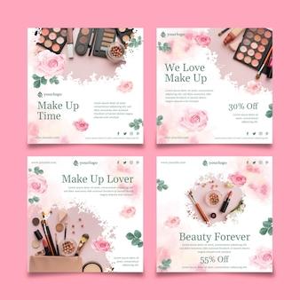 Cosmetische instagram-berichten