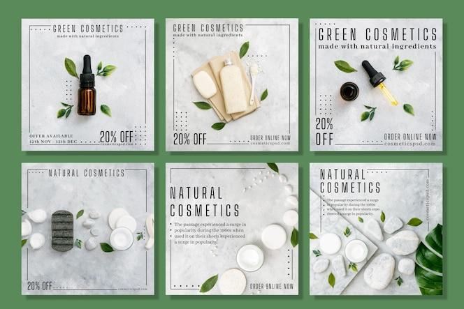 Cosmetische instagram posts concept