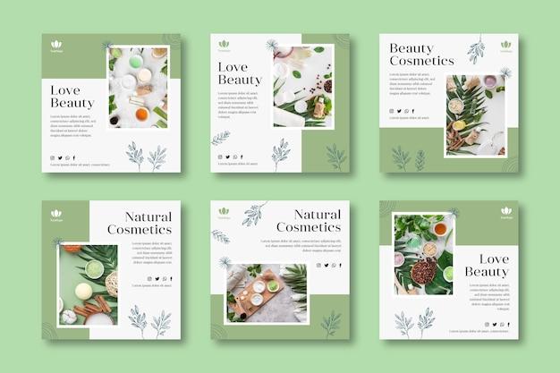 Cosmetische instagram postverzameling