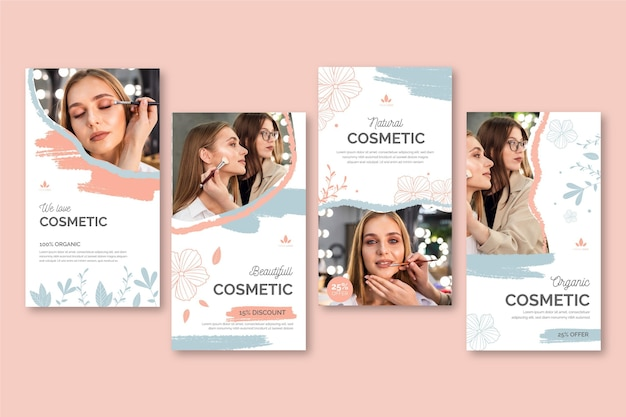 Cosmetische instagram verhalen sjabloon