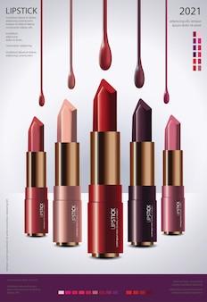 Cosmetische lippenstift poster