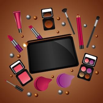 Cosmetische make-up producten beauty fashion set