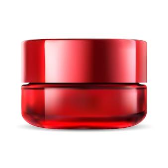 Cosmetische pot. glazen crème fles. face makeup pack