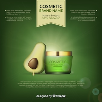 Cosmetische product achtergrond