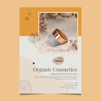 Cosmetische producten verticale flyer-sjabloon