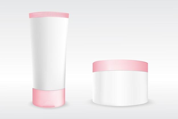 Cosmetische schoonheidsproduct crème fles sjabloon