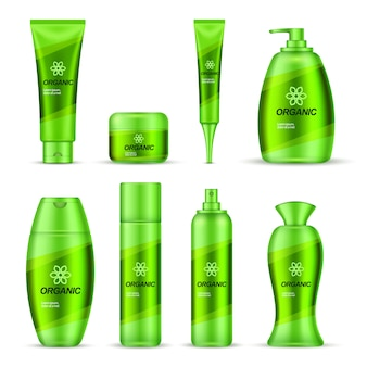Cosmetische serie verpakking ontwerpset
