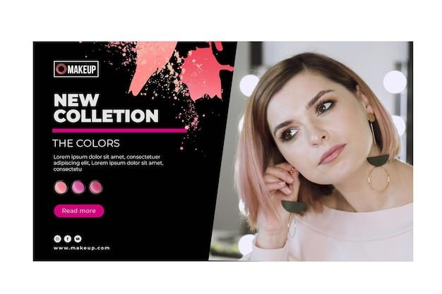 Cosmetische sjabloon voor spandoek