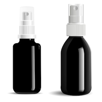 Cosmetische spray zwarte fles