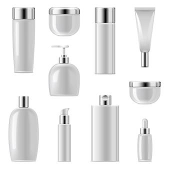 Cosmetische verpakking icons set 2