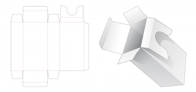 Cosmetische verpakking met gestanste sjabloon voor inserts