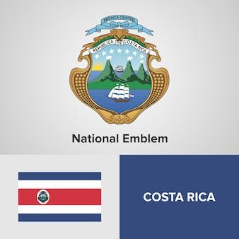 Costa rica national emblem en vlag