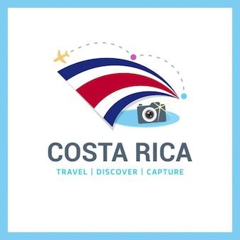 Costa rica travel logo