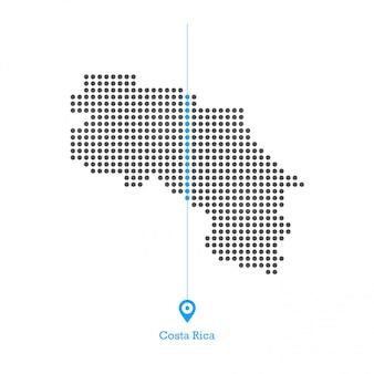 Costa rica verliefd kaart ontwerp vector