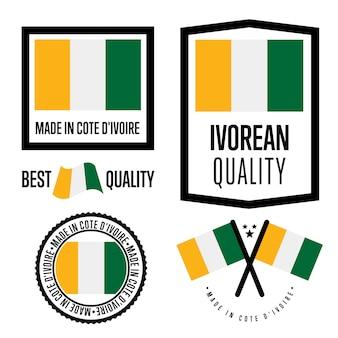 Cote d'ivoire kwaliteitslabel set