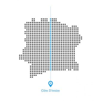 Cote divoire doted map desgin vector