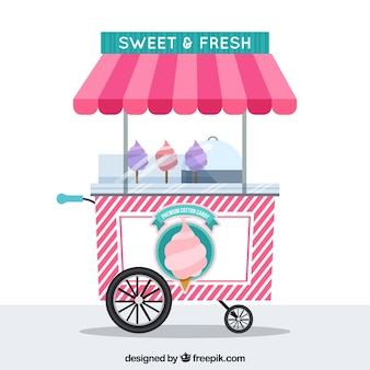 Cotton candy cart backround