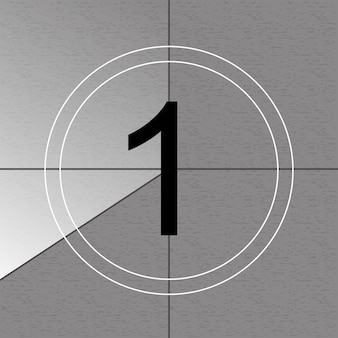 Countdown frame. oude filmtimer telt.