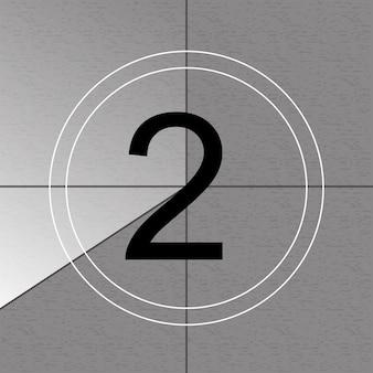 Countdown-frame, telling oude filmtimer.