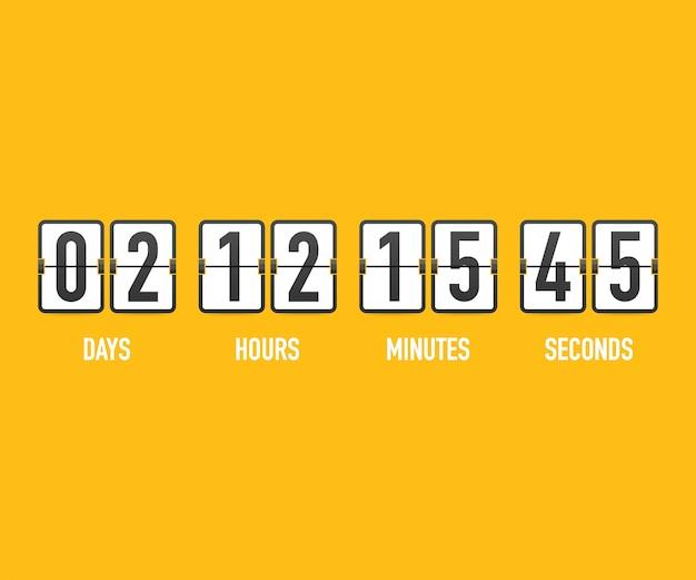 Countdown klok teller timer.