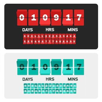 Countdown-teller sjabloonbanner