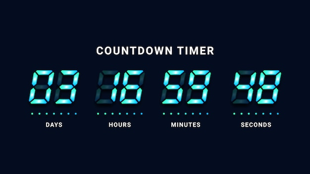 Countdown timer digitale klok