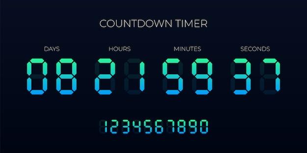 Countdown timer digitale klok