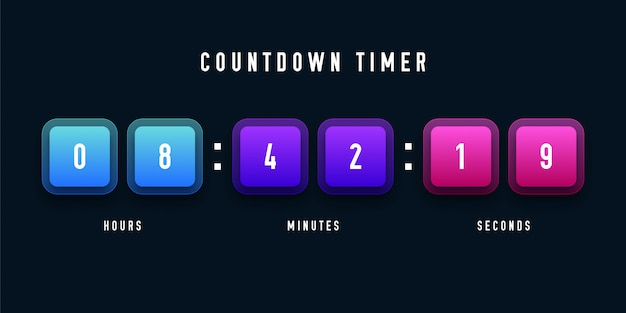 Countdown timer illustratie