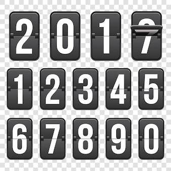 Countdown timer met cijfers, klok teller.
