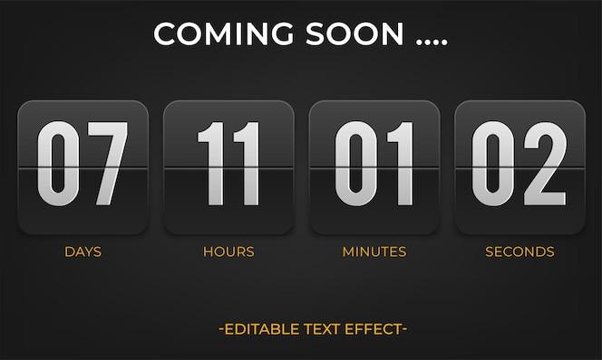 Countdown timer vector klok teller