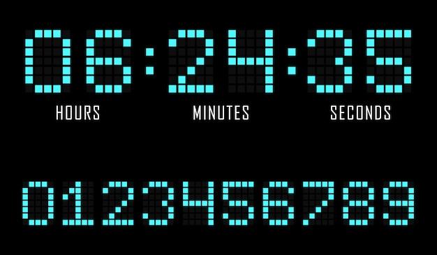 Countdown website platte sjabloon digitale klok timer.