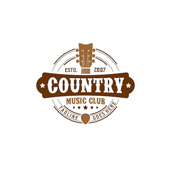 Country muziek club logo