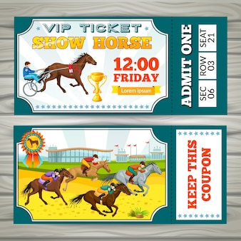 Coupon equestrian show pass tickets