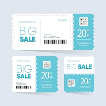 Coupon ticket card ontwerp.