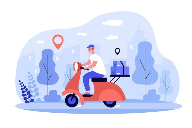 Courier scooter rijden