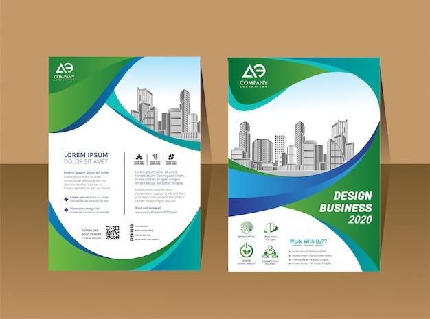 Cover boek brochure lay-out jaarverslag