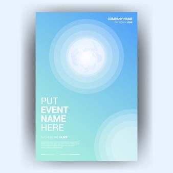 Cover boek kleur met gradiënt blauwe achtergrond gratis vector