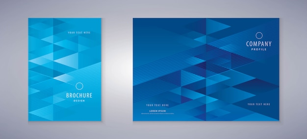 Cover boek ontwerp, driehoek achtergrond sjabloon brochures
