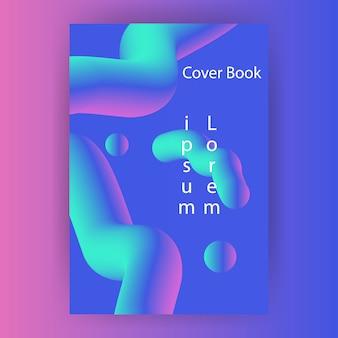 Cover boek verloop met vloeiende futuristische gratis vector