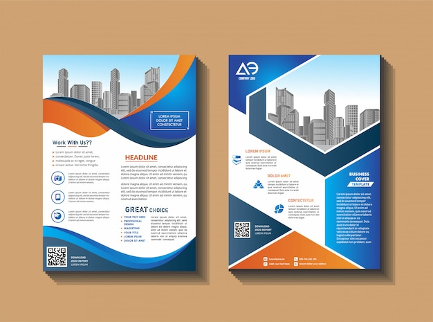 Cover brochure en lay-out voor presentatie en marketing