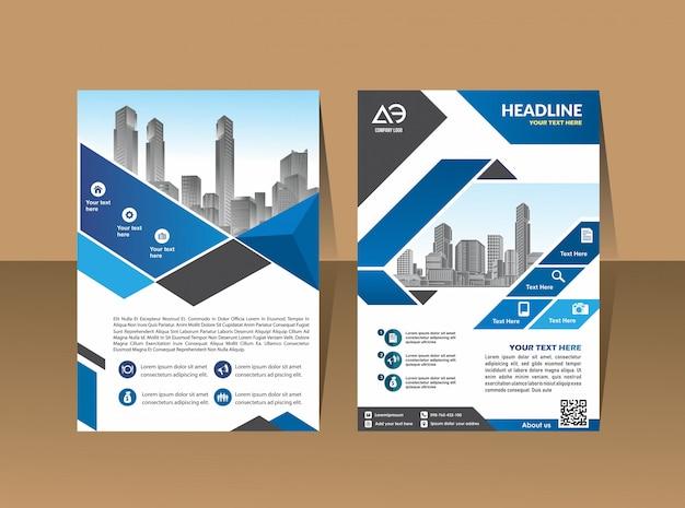 Cover brochure lay-out met vorm vectorillustratie