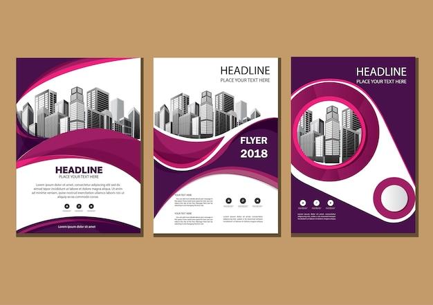 Cover brochure layout jaarverslag flyer met geometrische vorm