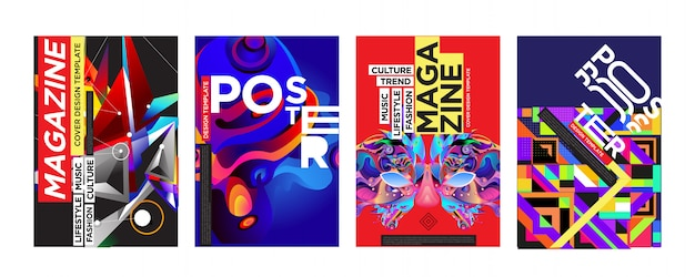 Cover en poster ontwerpsjabloon voor magazine