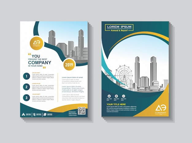 Cover lay-out brochure catalogus voor jaarverslag