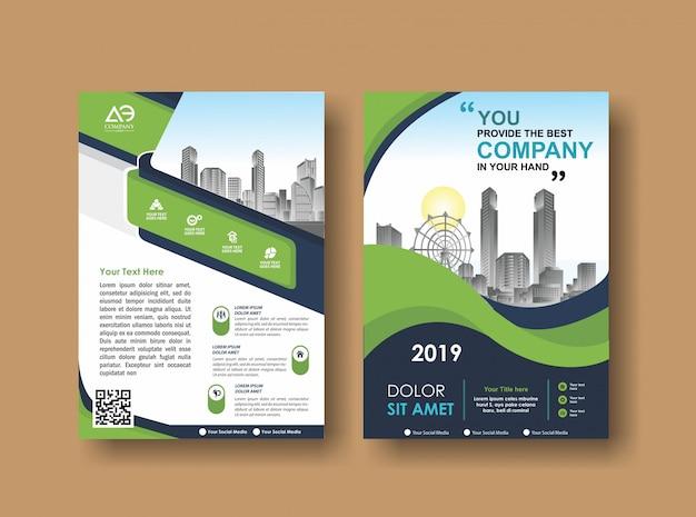 Cover lay-out brochure folder voor evenement en rapport