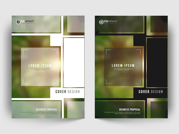 Cover lay-out met creatief ontwerppatroon