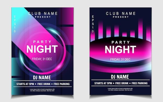 Cover muziek poster flyer ontwerp achtergrond met kleurrijk lichteffect