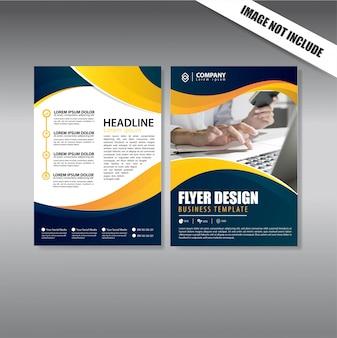 Cover ontwerp flyer en brochure zakelijke sjabloon
