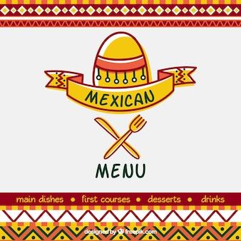 Cover ontwerp voor mexicaans restaurant menu