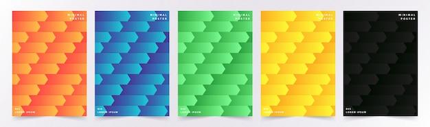 Cover set met abstracte geometrische patroon met kubussen